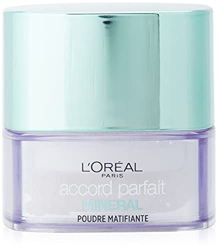 L\'Oréal Paris Accord Perfect Foundation Mineral Puder für alle Hauttypen, Tone 01 transparent