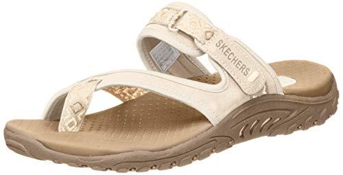 Skechers Modern Comfort Sandals Women s Reggae Trailway Flip Flop, Natural Cream, 10 M US