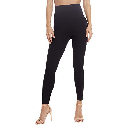 Leggings for Women - Premium Stretch Skinny Leggings for Women - Women Leggings Black Brushed X-Large