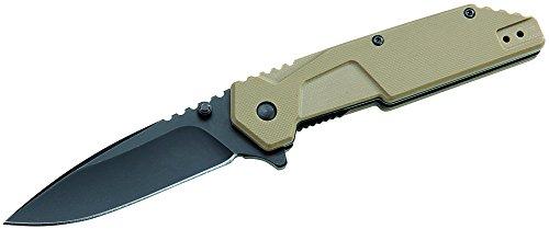 ATK Messer Einhandmesser G-10 Griffschale Länge geöffnet: 19.5cm, grau, M