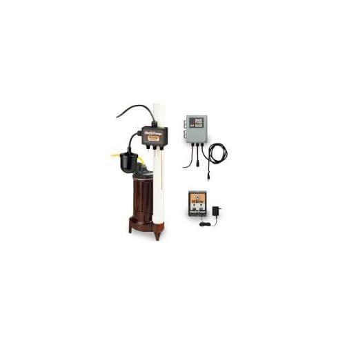 Liberty Pumps 3/4 HP Elevator Sump Pump System w/OilTector Control & Alarm - 208-230v - 25 ft Cord