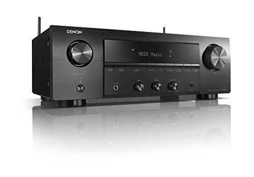 Denon DRA-800H stereo ontvanger en versterker, Alexa compatibel, 5 HDMI-ingangen, phono-ingang, Bluetooth en WLAN, DAB+ radio, muziekstreaming, AirPlay 2, HEOS Multiroom