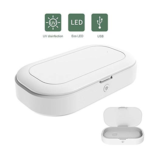 Sue-Supply Telefoon Draadloze Oplader 3 In 1 Ultraviolet Huishoudelijke USB Desinfectie Doos Sanitizer