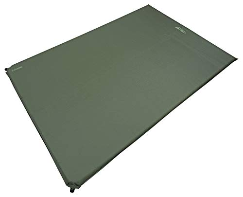 Andes Explora 5cm Double Self Inflating Camping Mat/Mattress Olive
