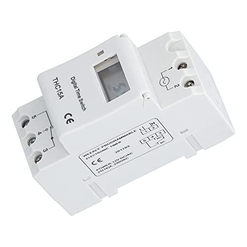 Gaeirt Relé Temporizador, Interruptor Temporizador antiinterferencias Pantalla LCD de visualización en Tiempo Real para la Industria