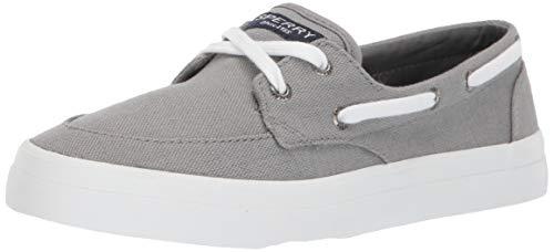 Sperry Womens Crest Boat Sneaker, Grey, 11