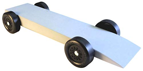 Pinewood Pro Pine Derby Complete Car Kit with PRO Graphite - Pre-Weighted, Pre-Drilled and Primed Ready for Paint -The Lazer