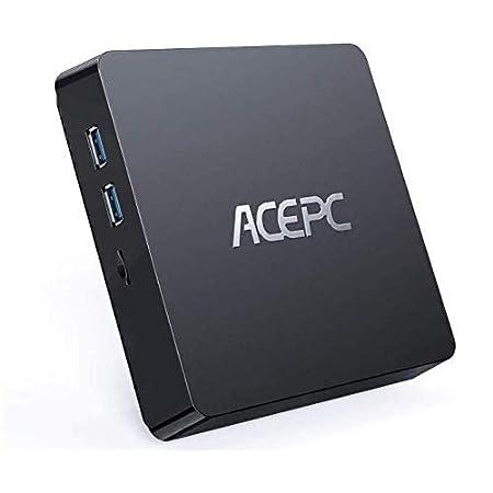 ACEPC T11 Mini PC, 8GB RAM+128GB ROM, Windows 10 Pro, Intel Atom Z8350,Soporta SSD/HDD de 2.5 Pulgadas, 4K HD/Dual WiFi/Bluetooth 4.2 Mini computadora
