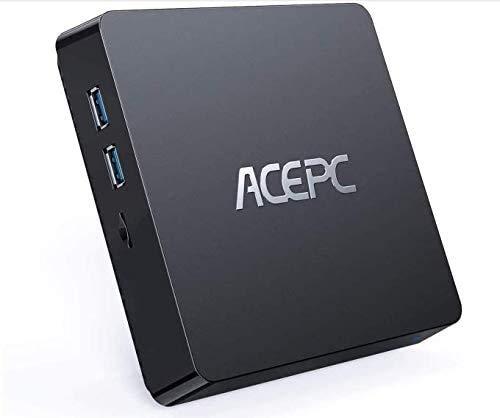 Mini PC,T11 Intel Atom Z8350 Windows 10 Pro (64 bit) Mini Computer,4 GB DDR+64 GB eMMC/Support 2.5 pollici SSD/HDD/4K HD/BT 4.2/USB3.0 Desktop,WiFi 2.4/5G+Gigabit Ethernet