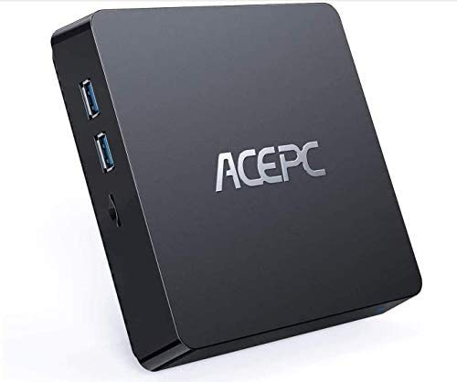 ACEPC T11 Mini PC, 8GB RAM+128GB ROM, Windows 10 Pro, Intel Atom Z8350,Soporta SSD/HDD de 2.5 Pulgadas, 4K HD/Dual...