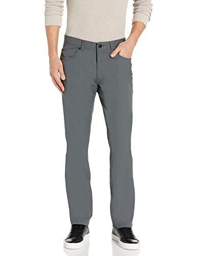 G.H. Bass & Co. Men's Hidden 5 Pocket Utility Pant, Dark Shadow, 34W x 32L
