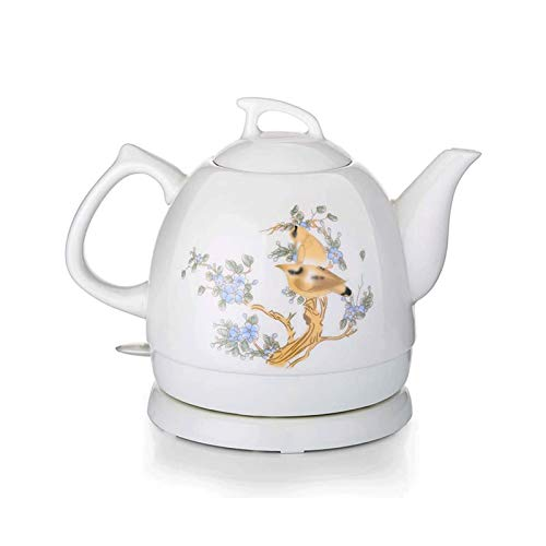 Bdesign Elektrischer Kesselschnitzel-Wasser-Tee-Tee-Retro 1l-Krug 1000w Wasser schnell für Tee, Kaffee, Suppe, abnehmbare Basis Automatische Ausschaltung