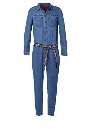 s.Oliver RED Label Damen Denim-Overall, blau jeans-look - 2