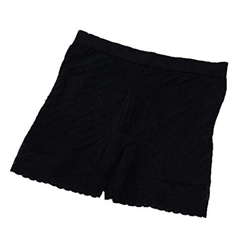 NPRADLA - Pantalones de Seguridad para Mujer, con Lazo, elásticos, cómodos, sin Costuras, Elastano Schwarz-2 Talla única
