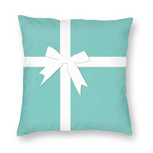 "NewBHomeHome Blue Tiffanys Inspired Turquoise Please Return Designer Square Home Decor Square Throw Pillowcase Pillow Protector Best Pillow Cover 24""x24"""