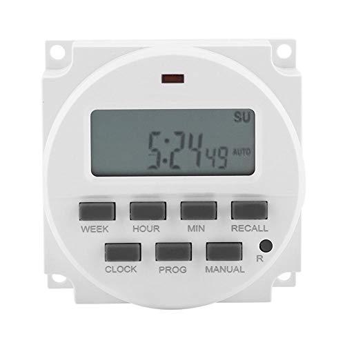 12V Temporizador Electric Digital LCD Programable Timer Switch Relay Control de tiempo electrónico Smart Control Switch Timer para lámpara de calle Lámpara de neón Señal de publicidad Lámpara