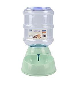 GF&EL 3.8L Distributeur Automatiques de Nourriture d'eau Chat Chien Animal Gamelle en Plastique Bouteille Distributeur de Croquettes
