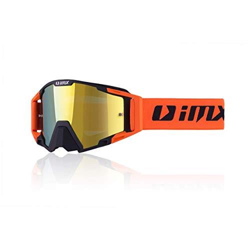 Schutzbrille IMX SAND | Iridium + klares Visier | Antifog- und Anti-Scratch-Linse | Nasenschutz | Breites 45mm Armband mit Silikondruck | Drei Schichten Schaum | Motocross Enduro Downhill Freeride MX