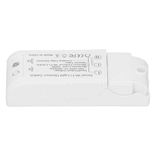 Interruptor de atenuación de luz WiFi, Interruptor de atenuación Inteligente, 300W para Asistente Alexa
