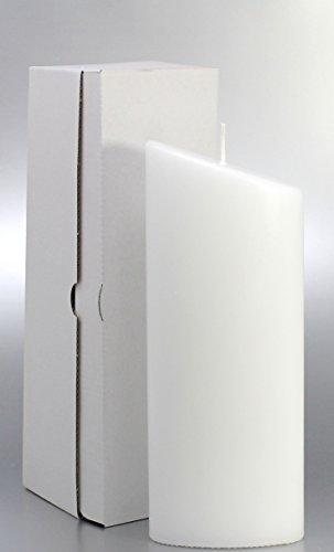 Kerze Oval Weiß 23 x 9 cm, mit Karton zur Aufbewahrung - 4805 - Kerzenrohling Ellipse 230x90 mm für Taufe, Hochzeit. Zum Basteln und Verzieren. Brautkerze, Taufkerze.