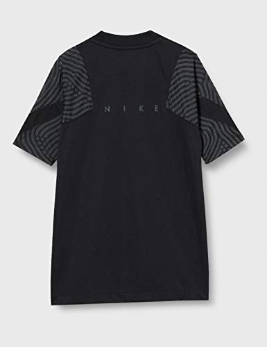Nike Boys' Breathe Strke T-Shirt Jungen, Black/Black/Anthracite/Black, XS