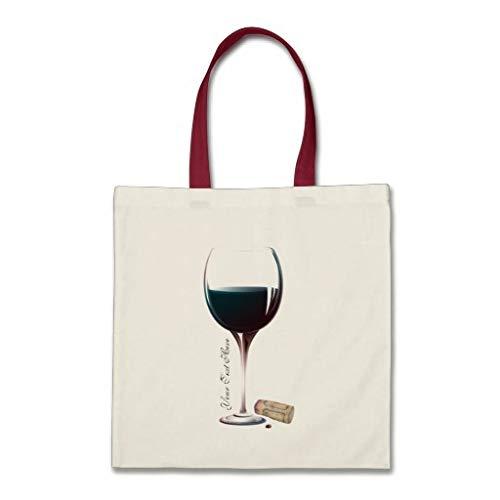 Borsa tote con logo personalizzato per bicchieri di vino