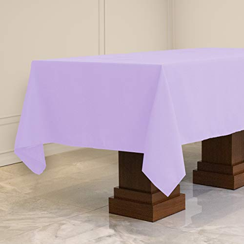 Kadut Rectangle Tablecloth (70 x 120 Inch) Lavender Rectangular Table Cloth for 6 or 8 Foot Table | Heavy Duty | Stain Proof Table Cloth for Parties, Weddings, Kitchen, Wrinkle-Resistant Table Cover