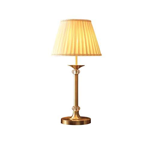 SPNEC Cobre Metal Moderno de la lámpara de Mesa, de Metal + Pantalla de Cristal + Sala de Estar, Dormitorio Decorativo luz de la iluminación