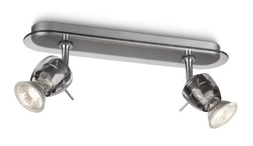 Philips MyLiving Réglette Spots sur Rails & Câbles 2 x 50 W 230 V Noir