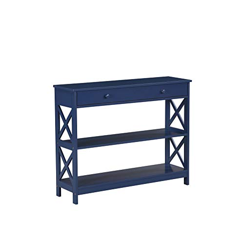 Mejor Convenience Concepts Oxford Console Table, Blue crítica 2020