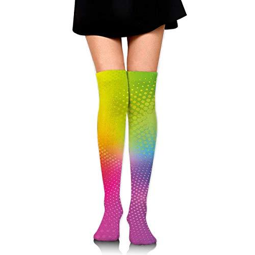 Calcetines atléticos vienen por encima de la rodilla, ajuste para senderismo, correr, fútbol, sóftbol, baloncesto