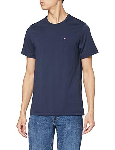 Tommy_Jeans Tjm Original Jersey Tee, Camiseta Hombre, Azul (Black Iris 002), Large