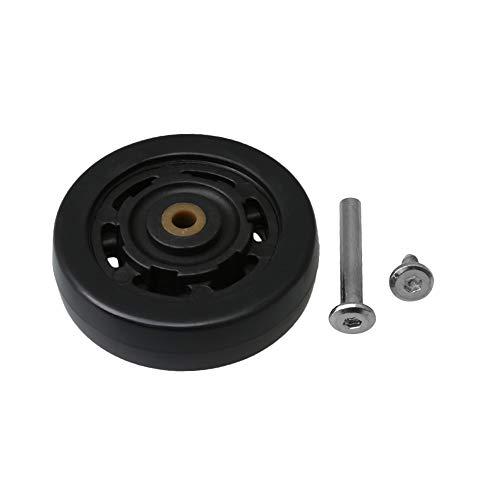BQLZR Ruedas de repuesto de 65 mm de diámetro, color negro, capacidad de carga de 50 kg
