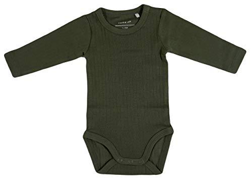 Name It Grenouillère pour bébé Nbmvay Ls Body Noos - Vert - 6 Mois