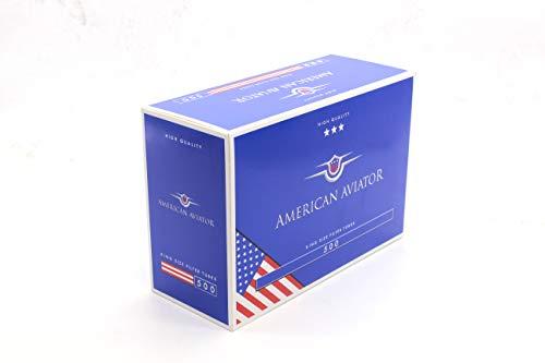 AMERICAN AVIATOR 1000 Tubos Vacíos con Filtro de 8 mm x 15mm para Tabaco de Liar (2 cajas de 500), fabricado en EU