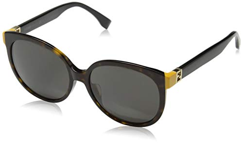Fendi Sonnenbrille FF 0144/F/S TRD/8H Oval Sonnenbrille 57, Braun