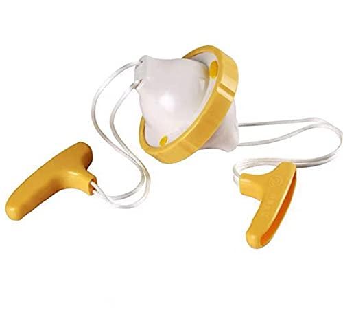 Batidor de huevos revuelto Batidor con cáscara Agite la cuerda para hacer huevos dorados - Revuelva y huevos revueltos dentro de la cáscara de huevo - Galleta de huevos revueltos sin romper