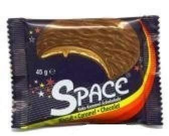 108 Space Caramel a 45g Keks Karamel Milchschokolade frisch 3 karton