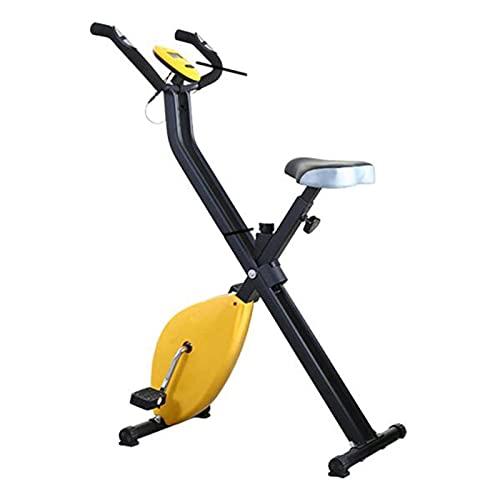 LLKK Bicicleta de ejercicio de interior plegable ligera Ciclismo Spin Bike,Equipo de fitness portátil brazo para el hogar Pedal ejercitador gimnasio pierna entrenamiento cardiovascular