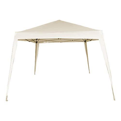 AKTIVE 62188 - Cenador plegable 300x300x240 cm poliéster color crema AKTIVE Garden