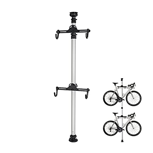 Bike Floor Or Wall Mount Bicycle/Galvanised Cycle Rack Storage Locking Stand Great For Garage, Garden Or Shed And For Security for up to 2 bikes