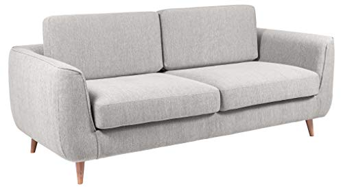 Amazon Brand - Movian Ribe - Sofá de 3 plazas, 92 x 200 x 85 cm (largo x ancho x alto), gris claro