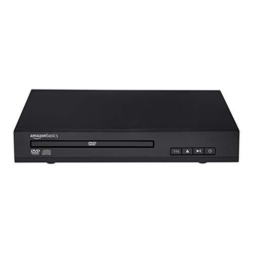Amazon Basics Mini-DVD-Player mit Text-to-Speech-Technologie, Cinch-Anschluss und Fernbedienung - schwarz
