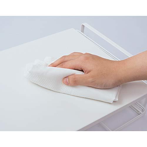スチール製で、から拭きやぬれ拭きをすれば簡単に綺麗を保てます。トースター周りはパンくずなどが落ちるので、こまめに掃除したいですね。