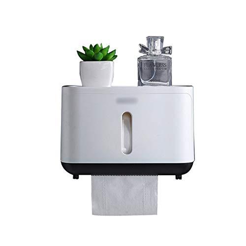 TJLMZ Portarrollos de Papel higiénico Portarrollos de Pared, Caja de Papel higiénico, Papel de Cocina, Utensilios de Aseo y baño