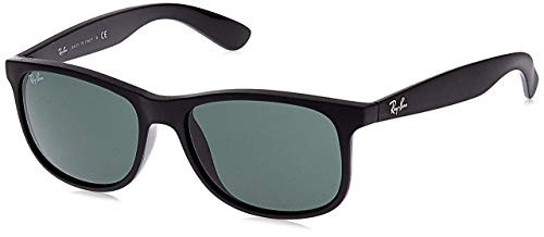 Ray-Ban Andy RB4202 606971 - Gafas de sol no polarizadas, negro mate / verde oscuro, 55 mm