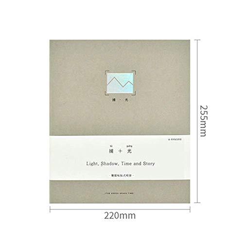 Sello del álbum, álbum for sellos, de alta capacidad, usada for los álbumes de bebé Registro del Crecimiento, sello familia Colecciones, la atracción de entradas Postal Colección, gris, verde, azul, m