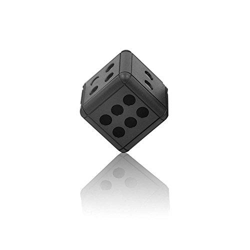 Mini Kamera Tragbare Spion Kamera 1080P HD Würfel Mini versteckte Kamera Mikrofon Spion verstecken Schlüsselanhänger SQ16 (Schwarz)