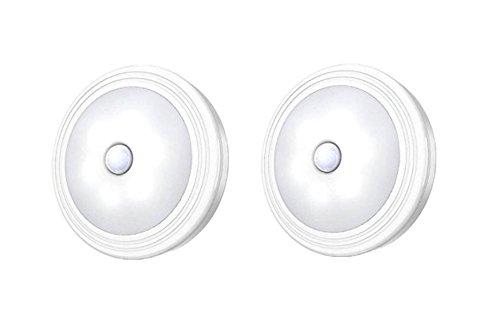 sinnsei LED人感センサーライト六つのLEDランプ0.3W省エネ電池式 3Mテープ 磁石付き式 取り外しやすく、電池交換が便利。 キッチン/玄関/階段/クロゼット/廊下/台所/本棚などに最適 小型・軽量 2個セット昼白色