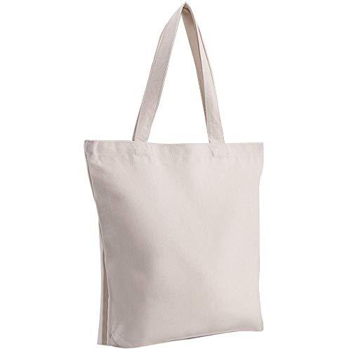 AGPTEK DIY Baumwolltasche 40 x 35cm bis zu 20kg, unbedruckter Stoffbeutel ideal zum Bemalen, Natürliche Materiel statt Plastik, Unisex waschbare und Faltbare Tasche mit Langen Henkeln fürs Einkaufen